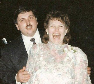 Matthew and Diana at their wedding reception in 1994.