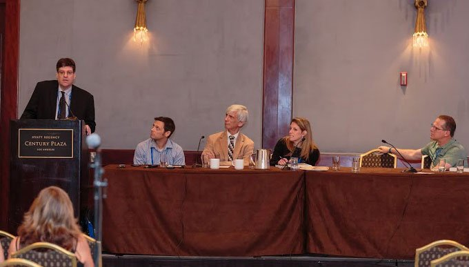 Bud Clayman, Jon Hershfield, MFT, Bruce Hershfield, MD, Stephanie Zisook, MD, Jeff Bell (KCBS Newsradio / IOCDF Spokesperson), image courtesy of Roberto Farren Photography - Exposure Response Prevention