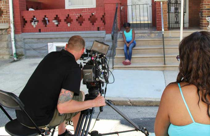 On set with little Dee (Tamika Tukes) and Darlene - inner child