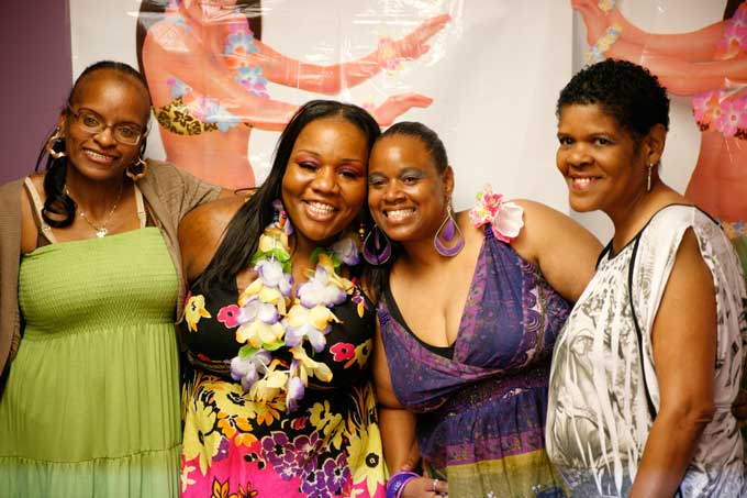 "From Hollywood Beauty Salon (L to R): Darlene, Rachel ""Hollywood"" Carr, Crystal, Butterfly - inner child"