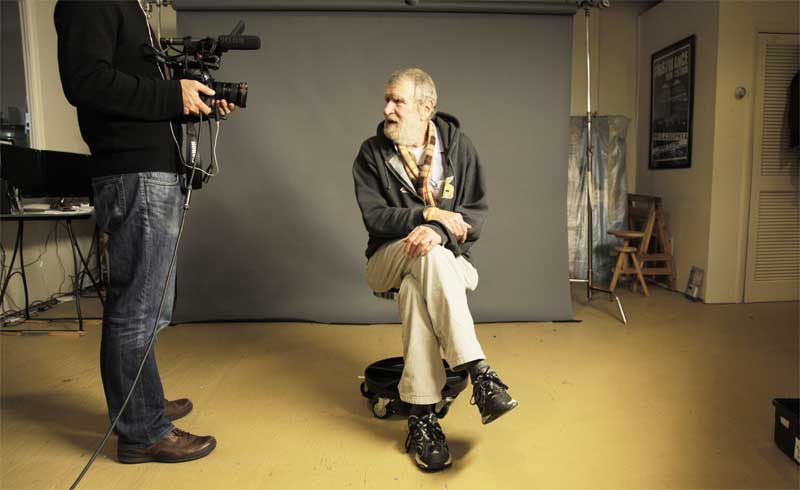 Ed Kozempel is interviewed for the Hollywood Beauty Salon documentary